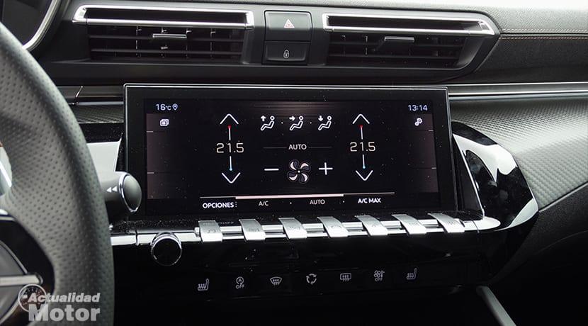 Climatizador en pantalla táctil Peugeot 508