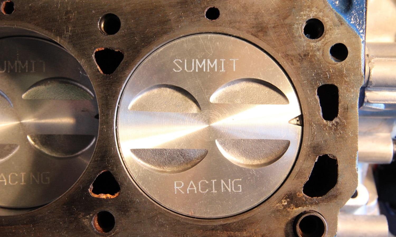 El pistón dentro del cilindro de un motor