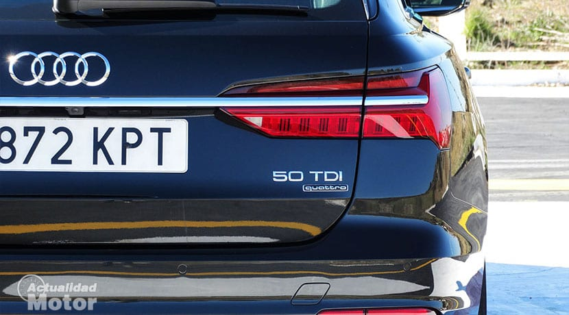 Prueba Audi A6 Avant 50 TDI detalle trasero
