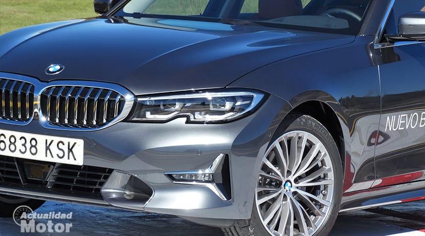 Detalle frontal faros LED BMW Serie 3 320d G20