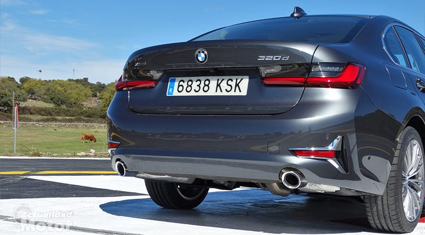 Prueba BMW 320d trasera