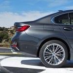 Prueba BMW Serie 3 detalle tres cuartos trasero