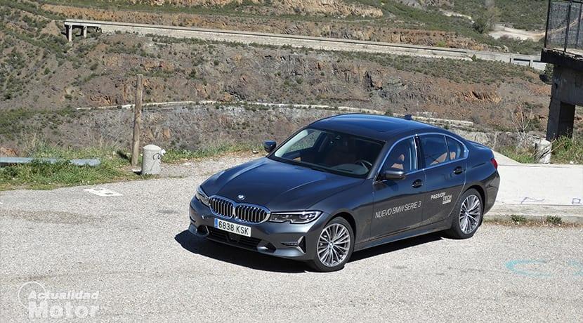 Perfil delantero del BMW 320d