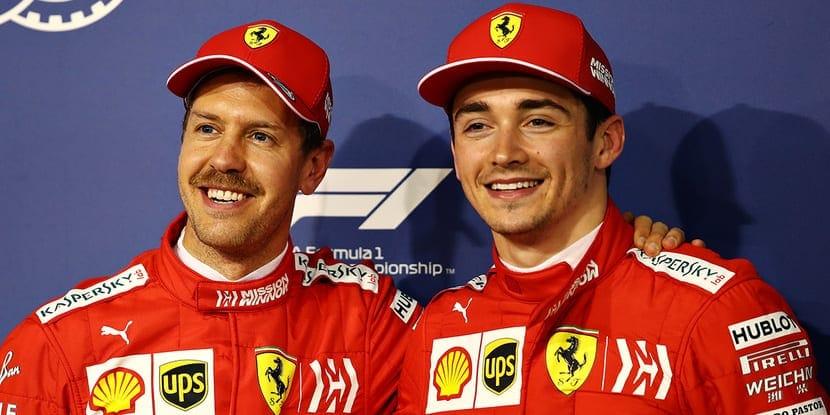 Vettel y Leclerc