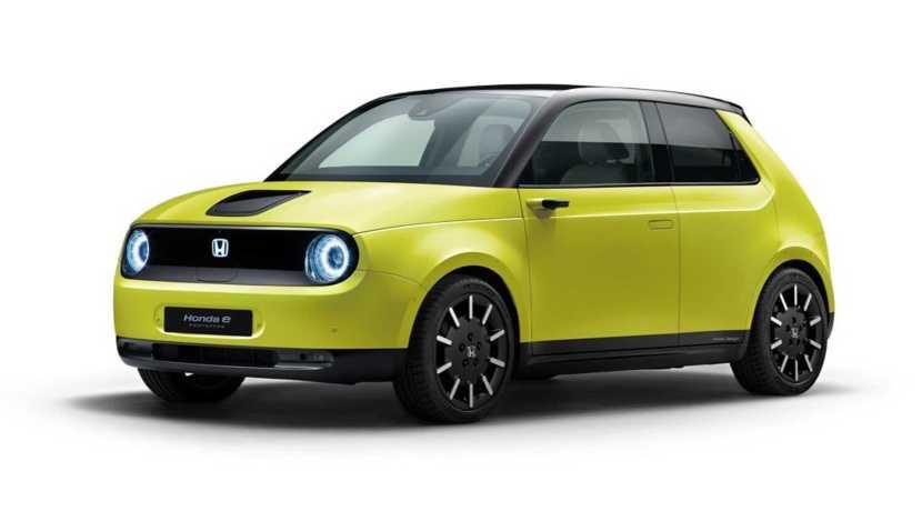 Honda e Charge Yellow