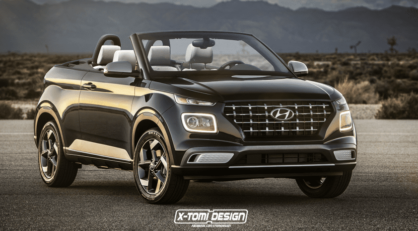 Hyundai Venue Cabrio render by X-Tomi Design