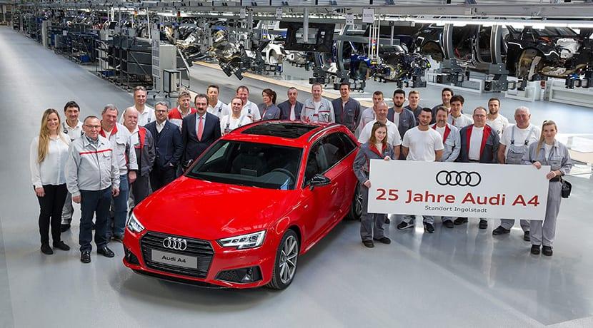 Audi A4 cumple 25 años