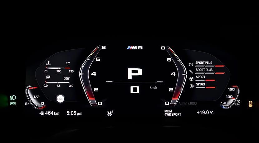 BMW M8 cuadro instrumentos Modo M
