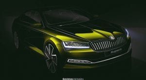 Boceto Skoda Superb restyling