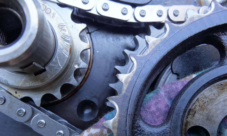 Cadena de distribución de un motor