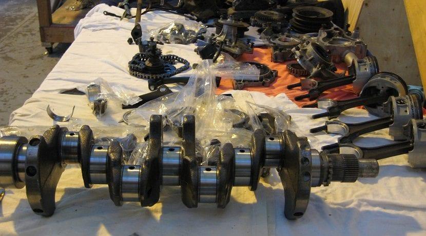 Cigüeñal y demás partes del motor