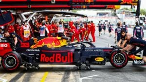 Box de Red Bull en el GP de Mónaco 2019