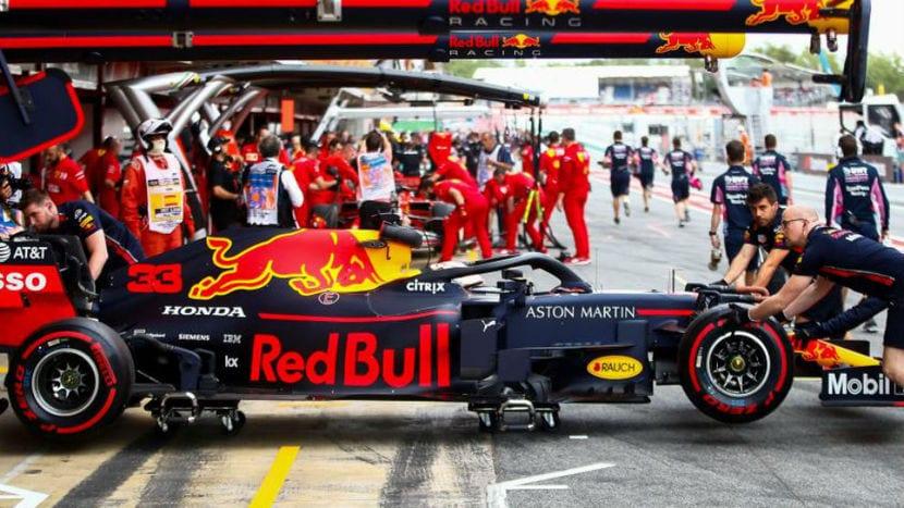 Box de Red Bull en el GP de Mónaco 2019