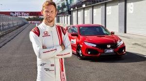 Honda Civic Type R en Bathurst con Jenson Button