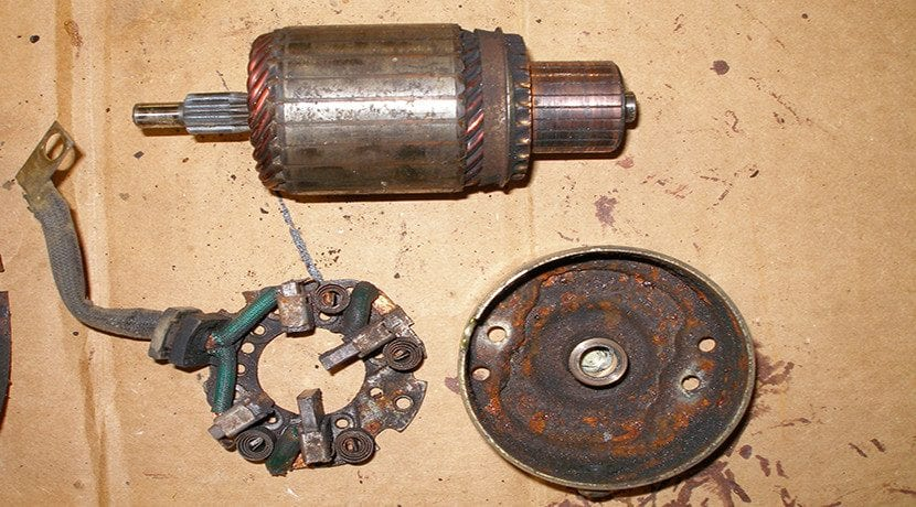 Motor de arranque viejo