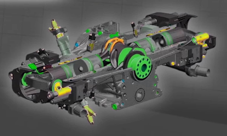 Motor de pistones enfrentados