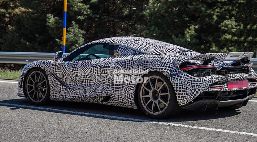 Foto espía perfil trasero McLaren híbrido