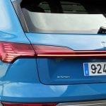 Prueba Audi e-tron piloto trasero
