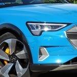 Prueba Audi e-tron faro de LED