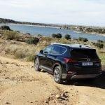 perfil trasero offroad Hyundai Santa Fe