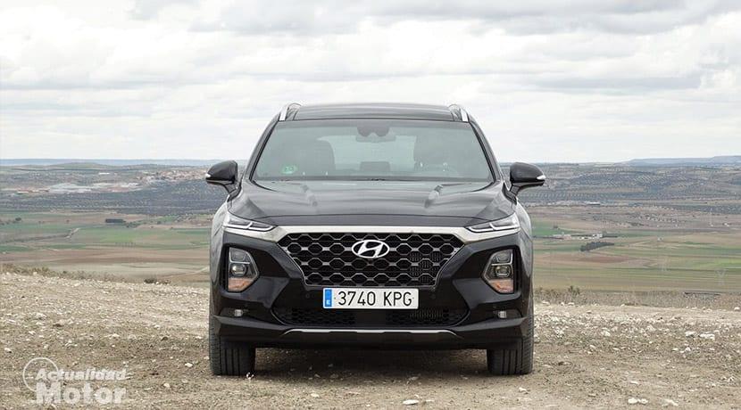 Prueba Hyundai Santa Fe frontal
