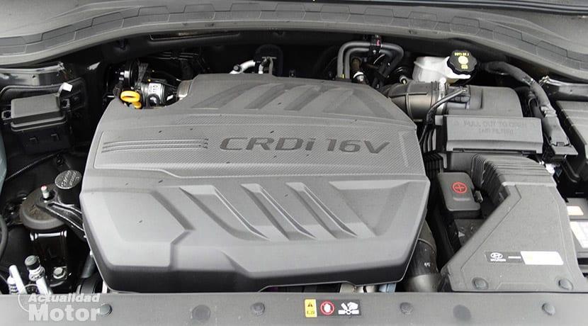 Prueba Hyunda Santa Fe motor 2.2 CRDi 200 CV diésel