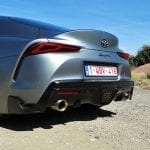 Prueba Toyota Supra parte trasera