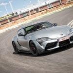 Prueba Toyota GR Supra en circuito perfil delantero