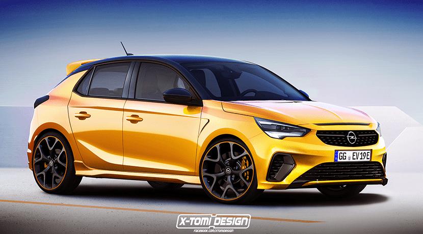 Render del Opel Corsa OPC