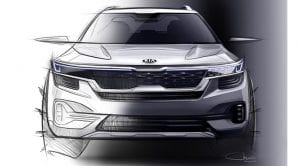 Boceto teaser Kia SUV compacto