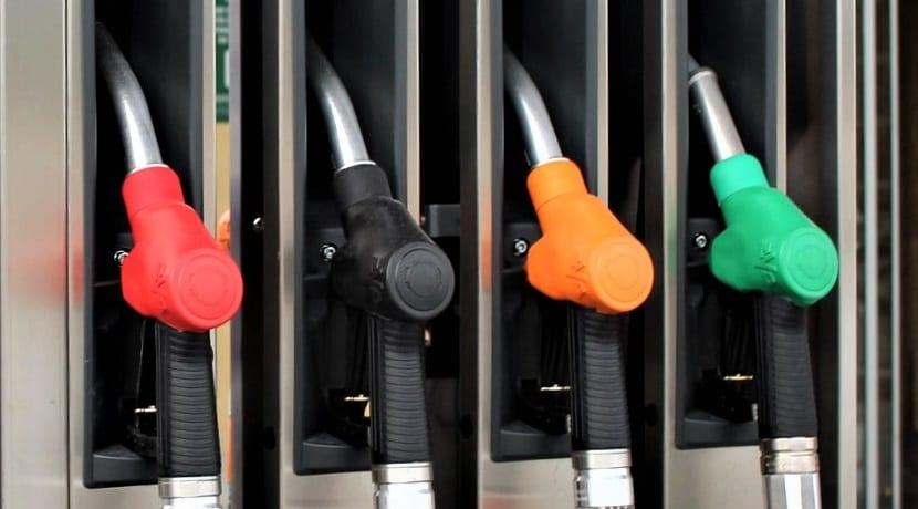 Surtidores de gasolinera