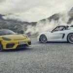 Porsche 718 Cayman GT4 vs Porsche 718 Spyder abierto