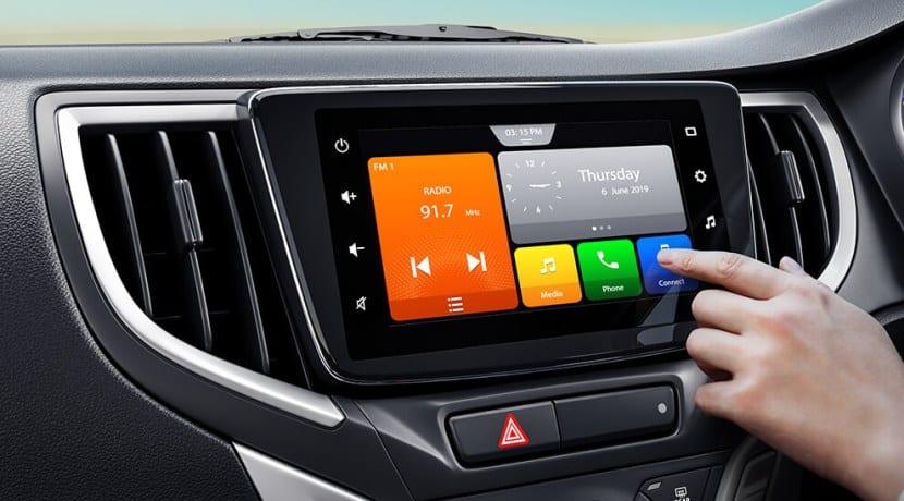 Toyota Glanza infotainment system