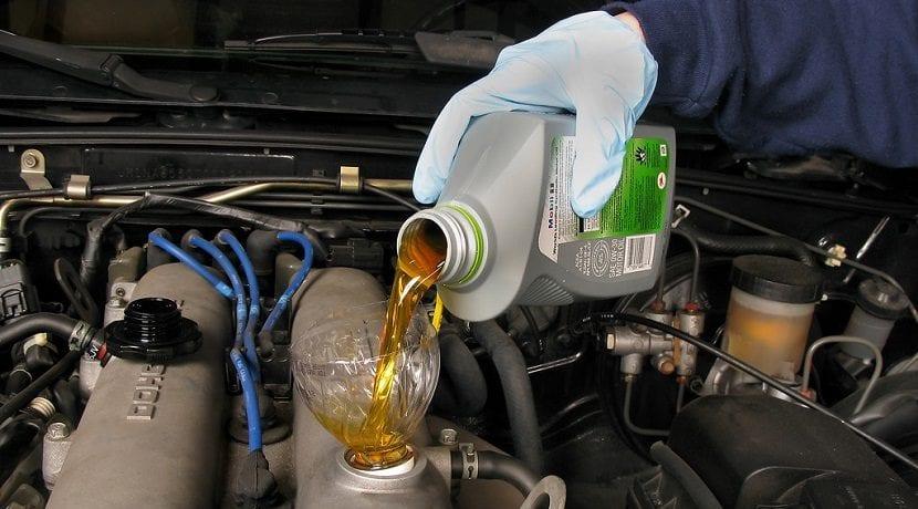 Demasiado aceite de motor