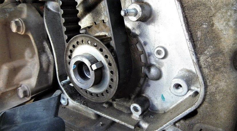 Correa de distribución de un motor