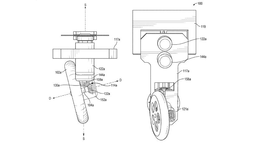Giro de 360º de la moto patentada por Facebook