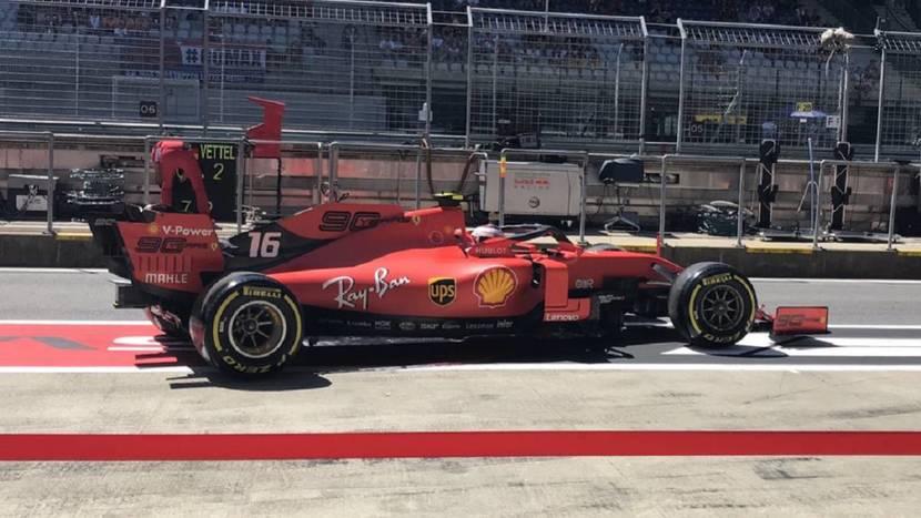 Ferrari en el pitlane de Austria 2019