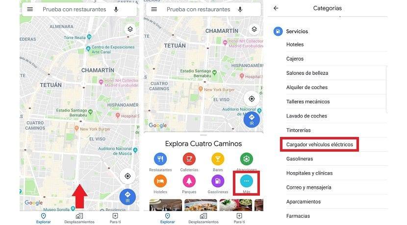 Buscar puntos de recarga en Google Maps