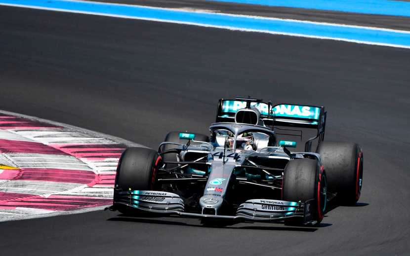 Hamilton en el Mercedes en el GP de FRancia 2019