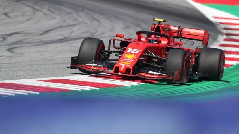 Leclerc en el Ferrari 2019