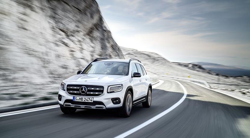 Mercedes GLB dinámica frontal