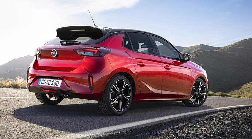 Opel Corsa perfil trasero