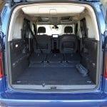 Prueba Opel Combo Life maletero con asientos tumbados