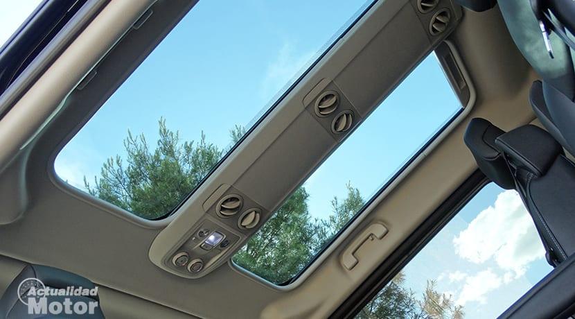 Peugeot Traveller ventilaciones plazas traseras y techo solar