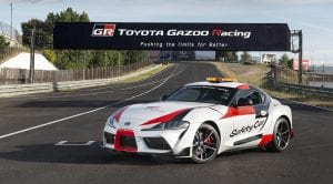 Toyota Supra Safety Car perfil