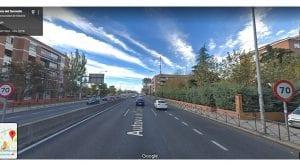 Radar de tramo en Autovía A5 Paseo Extremadura Madrid