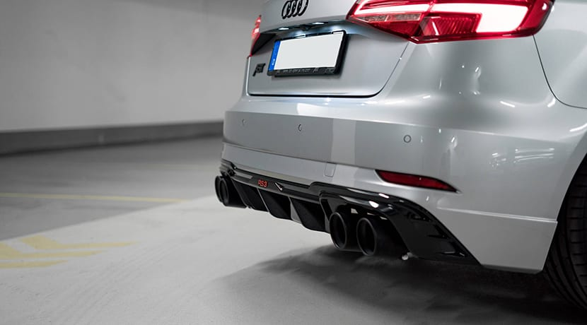 Escapes del Audi RS 3 preparado por ABT hasta los 470 CV