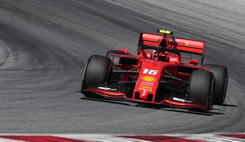 Charles Leclerc en el Ferrari