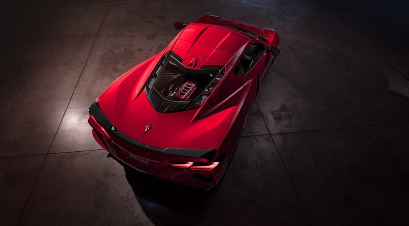 Chevrolet Corvette C8 trasera superior