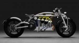 Curtiss Zeus V8 con una batería en forma de motor V8
